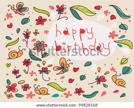 Beautiful Happy Birthday Greeting Card Flowers Vector – Flower Greetings for Birthday