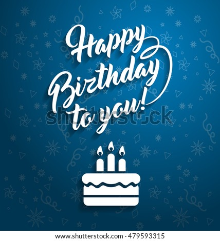 Happy Birthday You Lettering Text Greeting Vector 412624147 – Happy Birthday Greeting Text