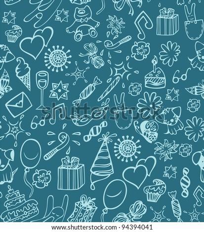 Happy birthday pattern - stock photo