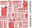 Happy birthday seamless background pattern. Illustration - stock vector