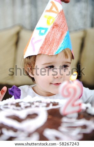 Happy birthday to you my dear, little girl - stock photo