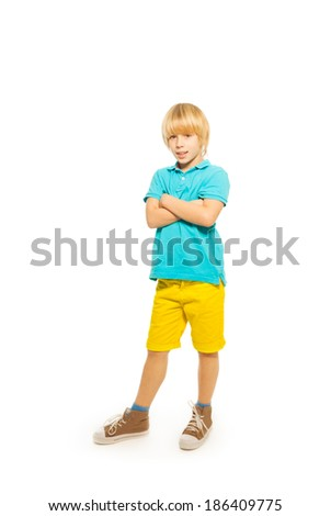 Happy blond boy - stock photo