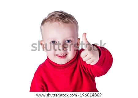 Happy boy - Stock photos. Isolated on white background - stock photo