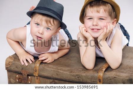 Happy boys - stock photo