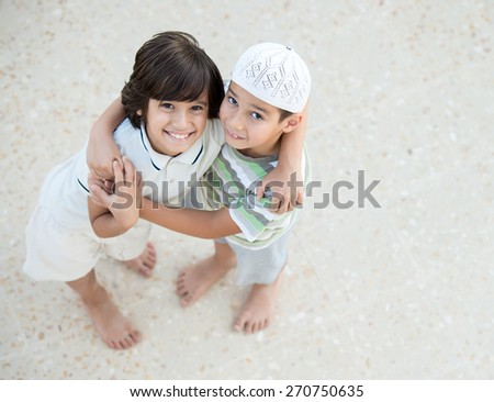 Happy boys - stock photo