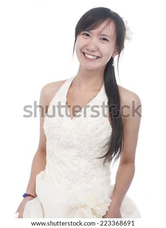 happy bride - stock photo