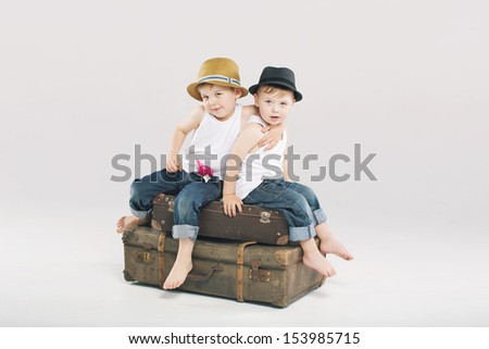 Happy brothers - stock photo
