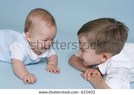 Happy Brothers - stock photo