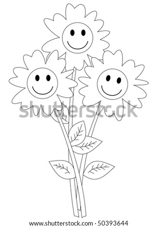 Happy Bunch of Flowers - stock photo