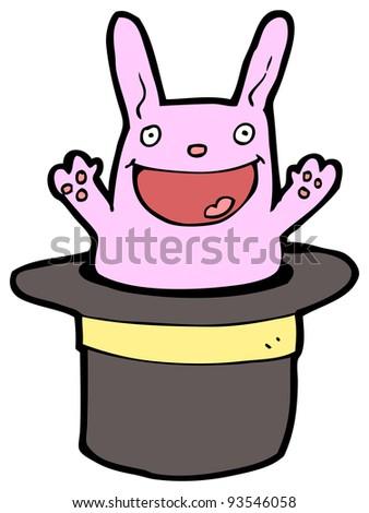 happy bunny rabbit cartoon (raster version) - stock photo