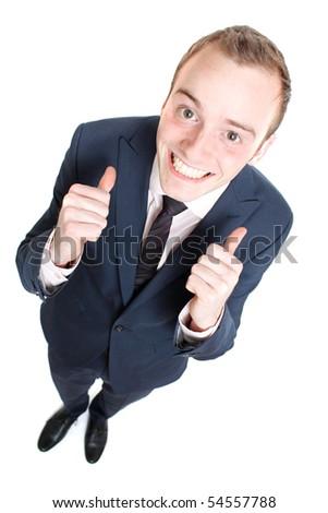 Happy business man - stock photo