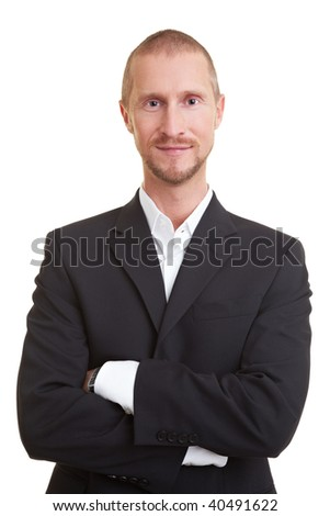 Happy Business man with crossed arms smiling
