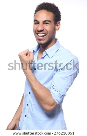 Happy business teenager - stock photo
