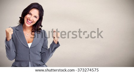 Happy business woman. - stock photo