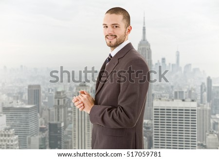 happy businessman portrait at the office