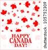 Happy Canada Day card  - raster - stock photo