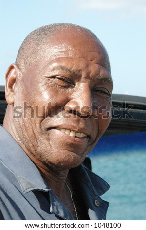 happy caribbean man with big smile