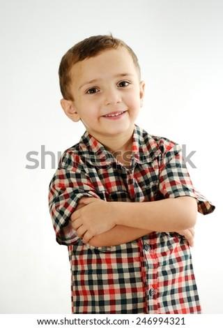 Happy cheerful child - stock photo