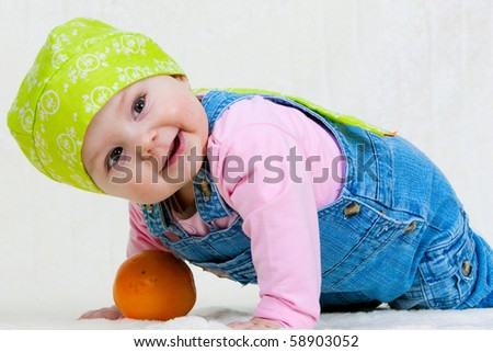 Happy child - stock photo