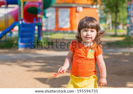 happy child on playground