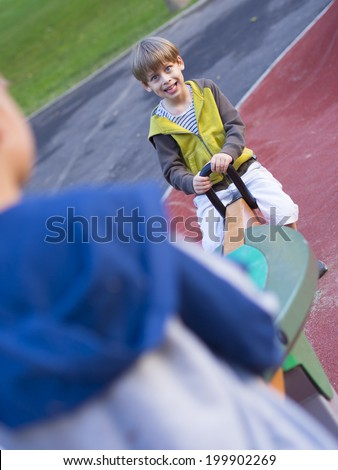 happy child outside - stock photo