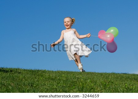 happy child playing - stock photo