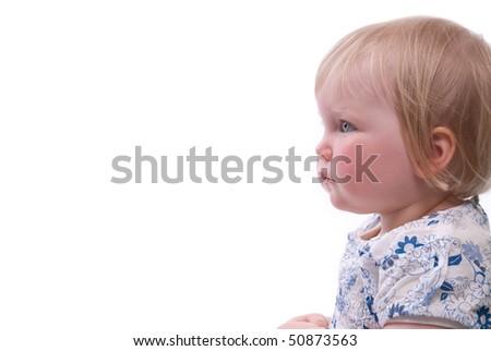 happy child thinks - stock photo