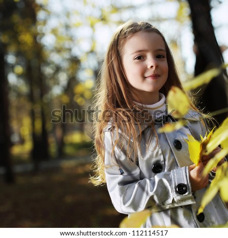 happy children in autumn park