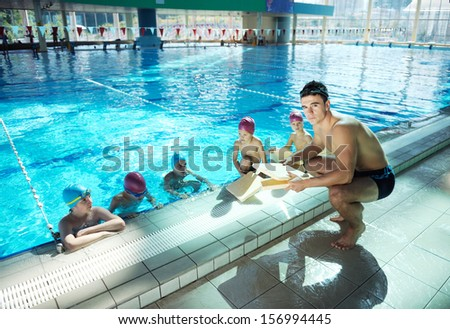 Happy chid have fun on swimming stock photo 120484189 shutterstock for Primary games swimming pool sid