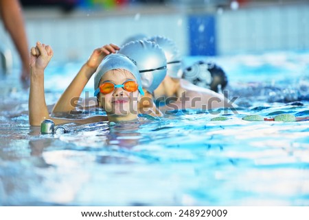 Swimming lessons stock images royalty free images vectors shutterstock for Rogers high school swimming pool