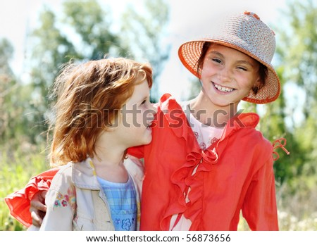 Happy children outdoors
