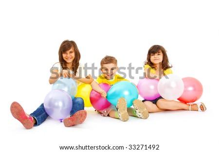 happy children smiling - stock photo