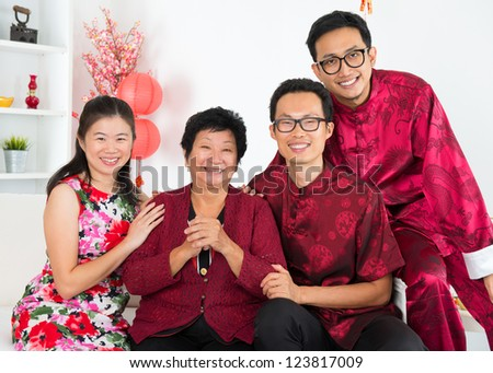 Happy chinese new year. Asian family reunion. - stock photo