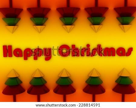 happy christmas background stock image - stock photo