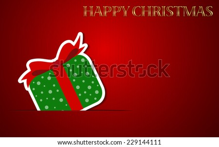 Happy Christmas Background with Gift box. - stock photo