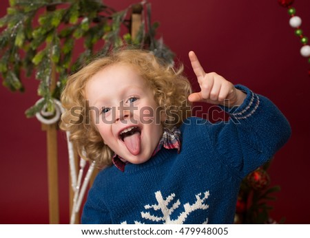 Happy Christmas Child: laughing, having fun and being silly