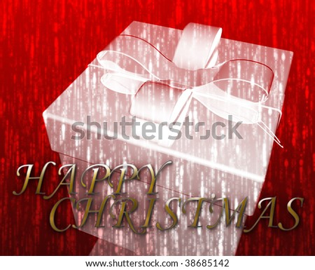 Happy Christmas festive special occasion celebration abstract illustration - stock photo