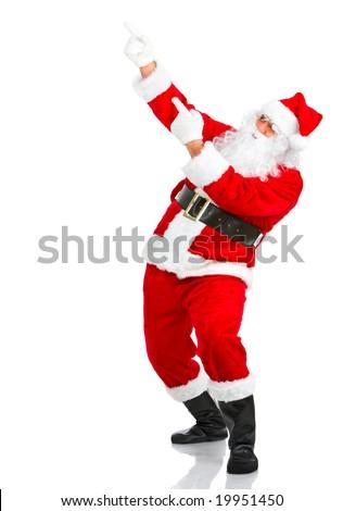 Happy Christmas Santa. Isolated over white background - stock photo