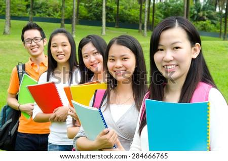 Happy college life - stock photo