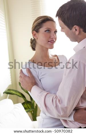 Happy couple embracing - stock photo