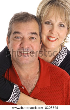happy couple in their 50's - stock photo