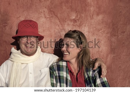 Happy couple, Sweden - stock photo