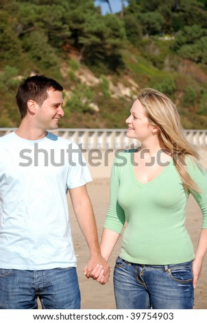 Happy couple togetherness - stock photo