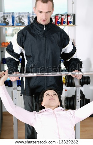 happy couple working out