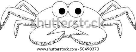 Happy Crab - stock photo