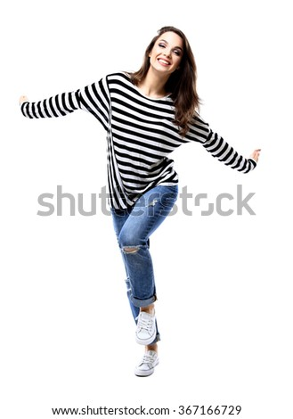 happy crazy excited woman screaming. Beautiful ecstatic female model. - stock photo