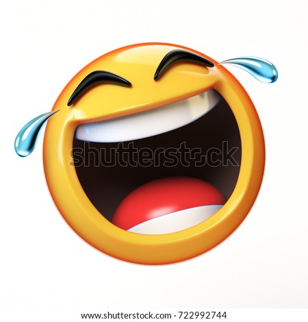 Happy cry emoji isolated on white stock illustration 722992744 happy cry emoji isolated on white background laughing face emoticon 3d rendering sciox Gallery