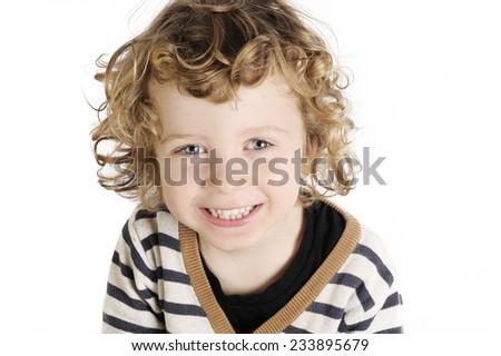 happy cute little boy - stock photo