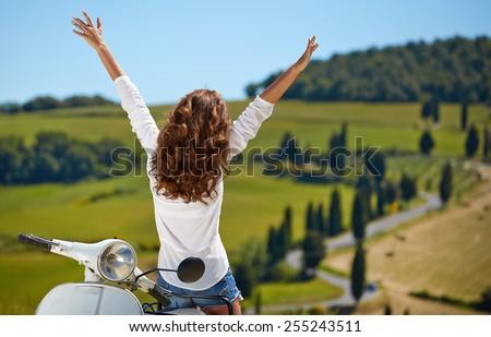 Happy day in Tuscany - stock photo