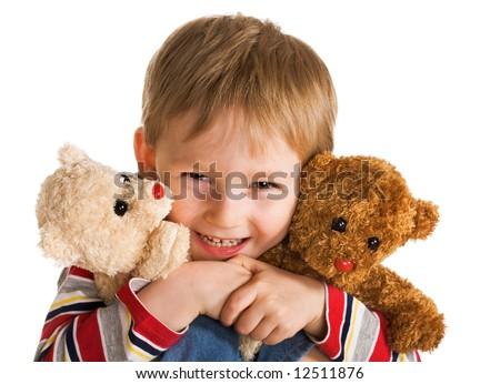 Happy day of little boy - stock photo
